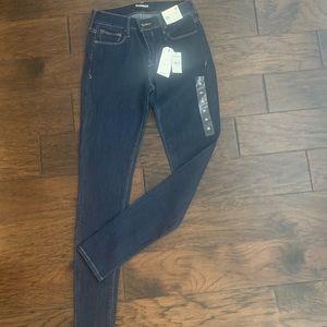 NWT Express Jeans Legging Mid-Rise 2R Dark Wash